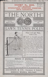 Advert For Davidson & Co., Lawn Tennis Equipment